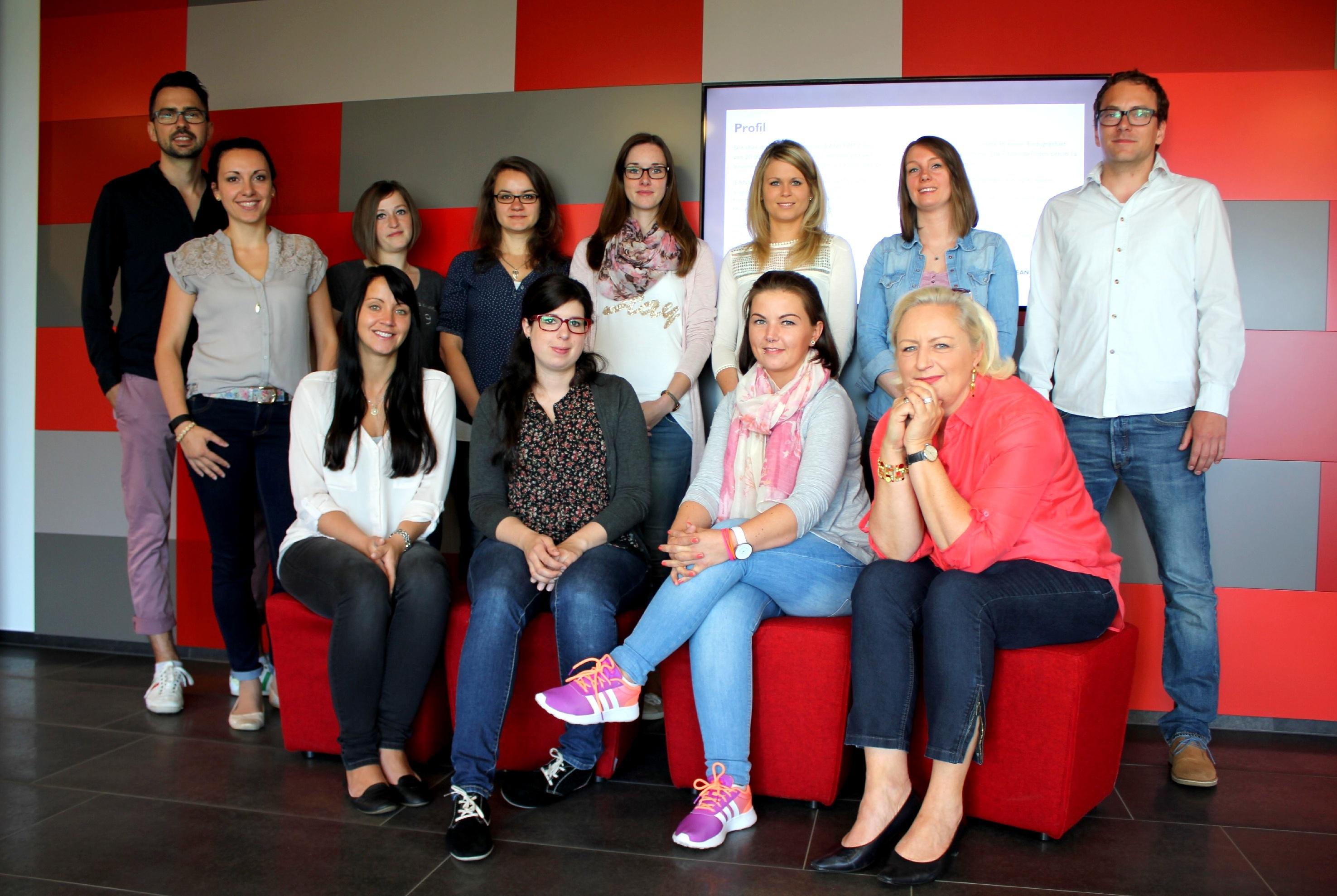 Ein Team: Seminar-teilnehmer
